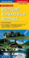 Reisekarte : Stuttgart / Schwarzwald / Bodensee
