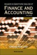 Advances in Quantitative Analysis of Fin