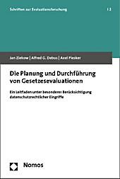 Planung und Durchführung von Gesetzesevaluationen