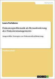 Fixkostenproblematik als Herausforderung des Fixkostenmanagements: Ausgewählte Strategien zur Fixkostenflexibilisierung - Laura Parlabene