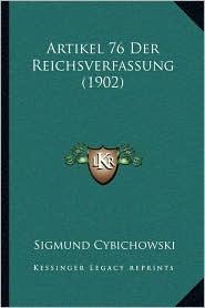 Artikel 76 Der Reichsverfassung (1902)