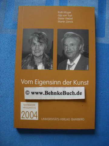 Bamberger Hegelwochen / Vom Eigensinn der Kunst: BD 15/2004