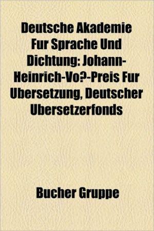 Deutsche Akademie F R Sprache Und Dichtung