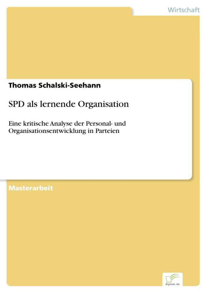 SPD als lernende Organisation als eBook Download von Thomas Schalski-Seehann - Thomas Schalski-Seehann
