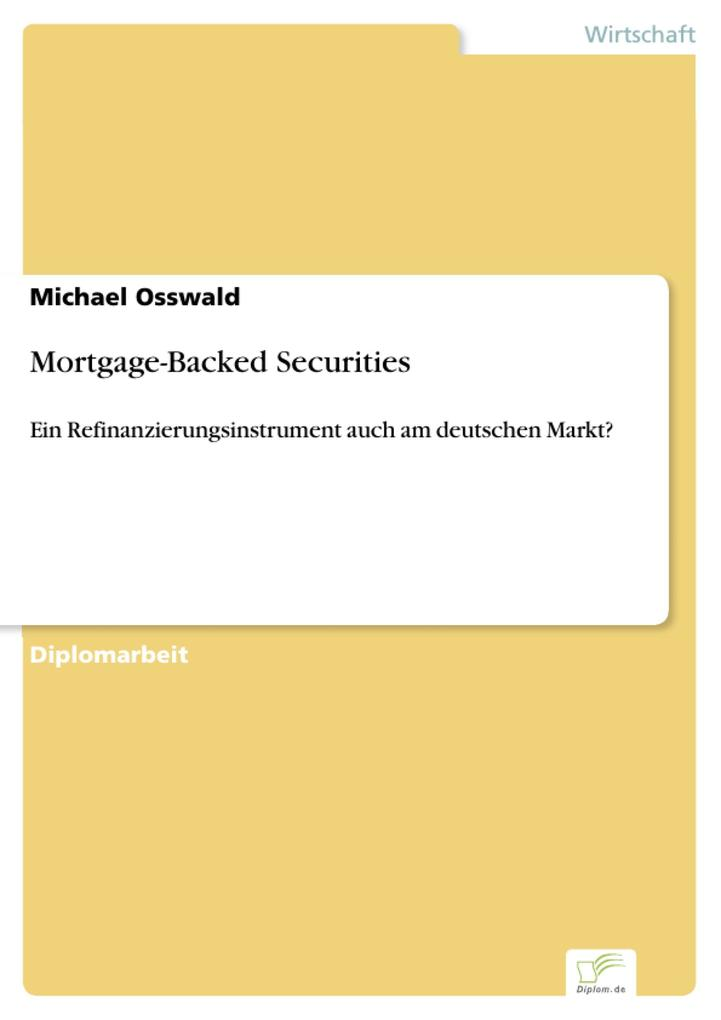 Mortgage-Backed Securities als eBook Download von Michael Osswald - Michael Osswald