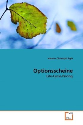 Optionsscheine - Life-Cycle-Pricing - Egle, Hannes Christoph
