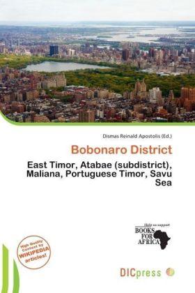 Bobonaro District - East Timor, Atabae (subdistrict), Maliana, Portuguese Timor, Savu Sea - Apostolis, Dismas Reinald (Hrsg.)