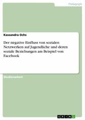 Der negative Einfluss von sozialen Netzwerken auf Jugendliche und deren soziale Beziehungen am Beispiel von Facebook - Kassandra Ochs