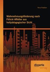 Wahrnehmungsförderung nach Félicié Affolter aus heilpädagogischer Sicht - Nina Friedlein